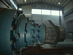 Electric engine factory for locomotives Stock Footage