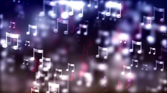 HD Loopable Background with nice flying musical notes Stock Footage