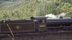 Stream Train Pass Slowmotion Stock Footage