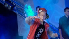 The young dancer dancing hip hop Stock Footage