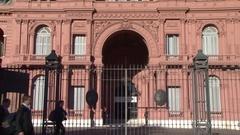 Casa Rosada, Buenos Aires, Argentina 01 Stock Footage