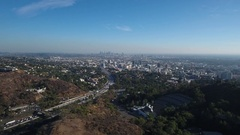 Hollywood Bowl Overlook Stock Footage