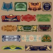 Label art nouveau Stock Illustration