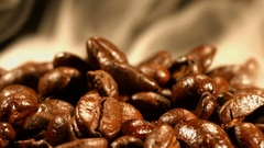 Coffee beans with steam Stock Footage