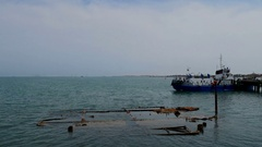 Azerbaijan, the Caspian Sea, Baku Stock Footage