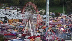Big Wheel at Nottingham Goose Fair. Stock Footage