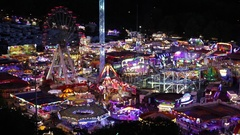 Nottingham Goose Fair at Night. Stock Footage