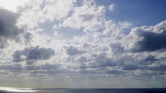 3 hours clouds passing at evening over the ocean (Time lapse) Stock Footage