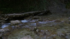 Waterfall Jur-Jur And Mountain River Cascades Stock Footage