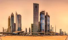 Business bay of Dubai, UAE Stock Photos