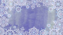 Frame from snowflakes on a violet background Stock Footage