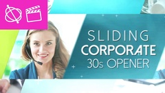 Sliding Corporate 30s Opener  Apple Motion and Final Cut Pro X Template Stock After Effects