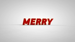 Rotating Marry Christmas, Happy New Year and 2017 3D text Stock Footage