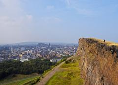 Holyrood Park in Edinburgh Stock Photos