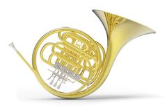 French horn Stock Illustration