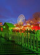Christmas Market in Edinburgh Stock Photos