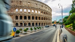 Rome, Italy. Hyperlapse of the famous Coliseum. Stock Footage