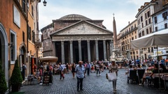 Rome, Italy. Hyperlapse of the Pantheon. Stock Footage