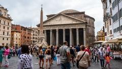 Hyperlapse of the Pantheon. Stock Footage