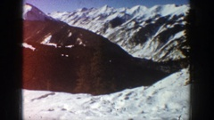1961: huge mountains almost completely covered with snow ASPEN COLORADO Stock Footage