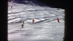 1961: enjoy the snow scatting with group of friends ASPEN COLORADO Stock Footage