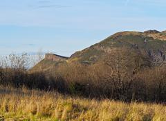 Holyrood Park in Edinburgh Stock Photos