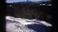 1961: friends are enjoyed in snow land by playing the scatting game ASPEN Stock Footage