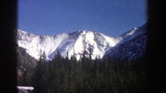 1961: hill station journey on summer vacation ASPEN COLORADO Stock Footage