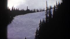 1961: winter landscape ASPEN COLORADO Stock Footage