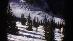 1961: flyby of a winter snowy landscape ASPEN COLORADO Stock Footage