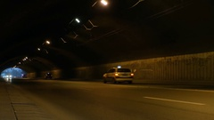 Car traffic in a city tunnel fast motion 4k footage Stock Footage