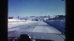 1961: snow road ASPEN COLORADO Stock Footage