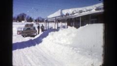 1961: the outcome of a snow storm ASPEN COLORADO Stock Footage