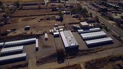 2016: aerial view of industrial structures in remote location. COLORADO Stock Footage
