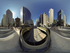 People cars and cyclists go to their destination on Avenida Paulista, 360VR vid Stock Footage