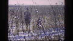 1958: a group of man hunting ducks KANSAS Stock Footage