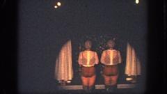 1951: kids performing a strange skit. GEORGIA Stock Footage