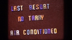 1958: last resort, no tarry, air conditioned KANSAS Stock Footage