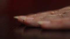 Nail polish in the blue color Stock Footage