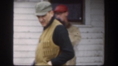 1958: hunters ready to go for hunting the wild animals. KANSAS Stock Footage