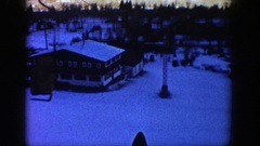 1961: a ski slope full of snow, cold weather and fun ASPEN COLORADO Stock Footage