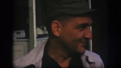 1958: funny old man wearing hat presenting a queer smile KANSAS Stock Footage