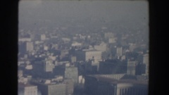 1960: a city on a foggy day with a construction site WASHINGTON DC Stock Footage