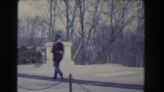 1960: military men guarding the tomb of the unknown soldier WASHINGTON DC Stock Footage