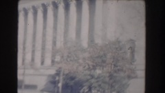 1960: majestic white marble building with statues and columns WASHINGTON DC Stock Footage