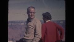 1962: some people looking through binoculars together ARIZONA Stock Footage