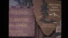 1962: the sign boards with beautiful letters put up at the park and zoo ARIZONA Stock Footage