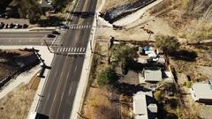 2016: urban road junction COLORADO Stock Footage