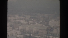 1960: a beautiful seen of city like buildings, roads, greenery and main Stock Footage