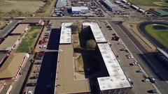 2016: the rectangular building COLORADO Stock Footage